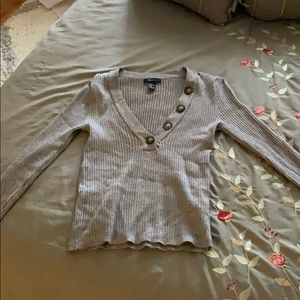Grey buttoned sweater